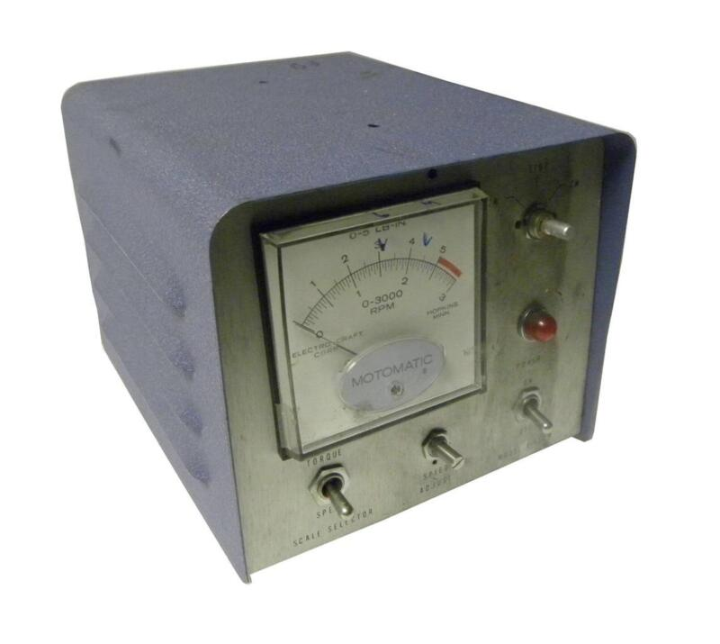 Electro-craft Motomatic Speed Controller Model E650 M Hi-out - Sold As Is