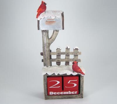 Mailbox with Cardinals Perpetual Count Down to Christmas Calendar ()