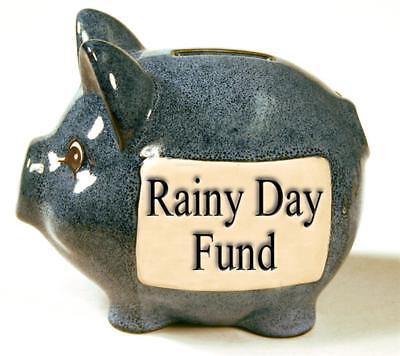 Stone With Words Ceramic Piggy Banks - Rainy Day Fund Boxed Money box savings