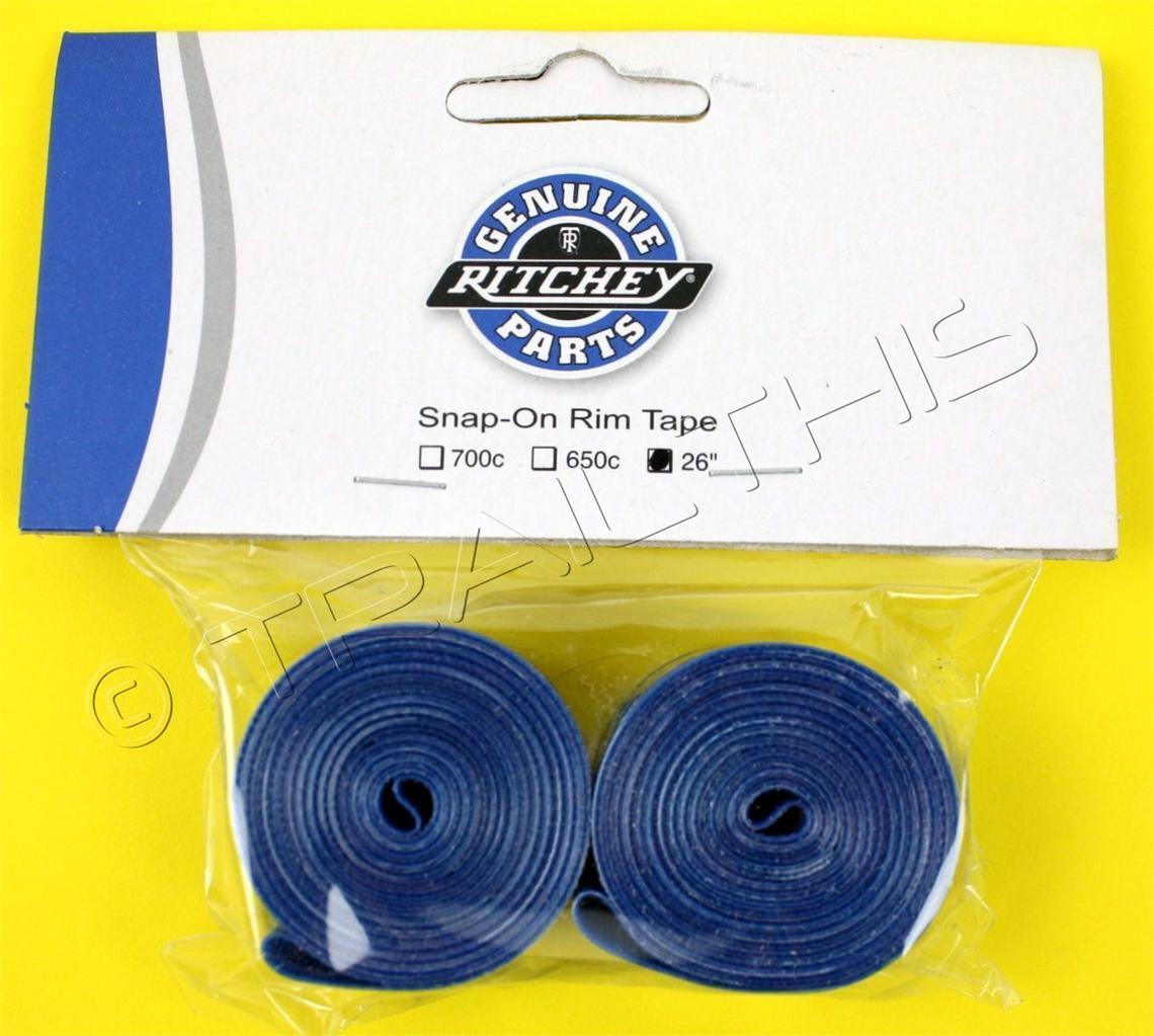 "Ritchey MTB Bike Snap-On Rim Tape Set 26"" x 20mm Blue One Pair"