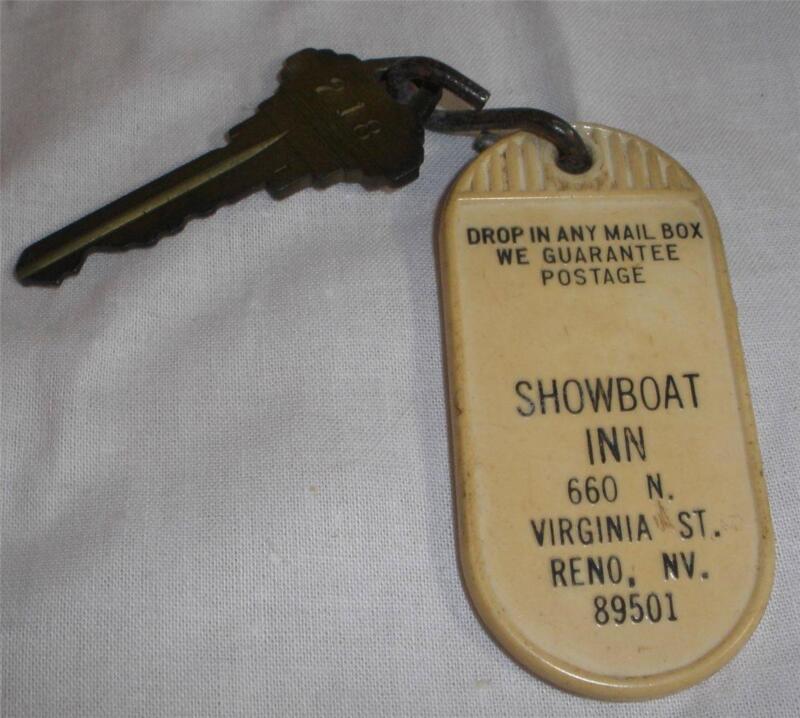 Showboat Inn Hotel Key Fob Reno Nevada Vintage