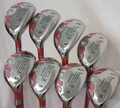 HOT PINK LADIES ALL HYBRID RESCUE CLUB LADY HYBRIDS WOMENS SET 4-SW GOLF CLUBS for sale  Shipping to Canada