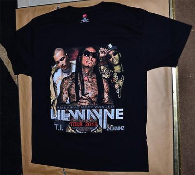 NEW Large Lil Wayne T.I. 2 Chainz Concert Shirt Amerikaz Most Wanted 2013 Tour