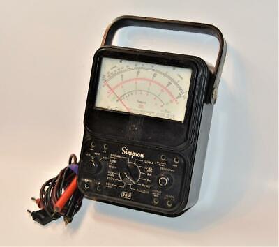Simpson 260 Series 6 Vom Multimeter Original Leads Tested Works