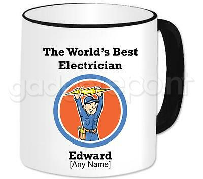 Personalised World's Best Electrician Gift Mug Dad Love Present For Him Design