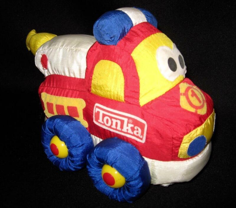 Vintage Tonka SOFT WALKIN' WHEELS Plush Battery Operated Fire Truck ~Not Working