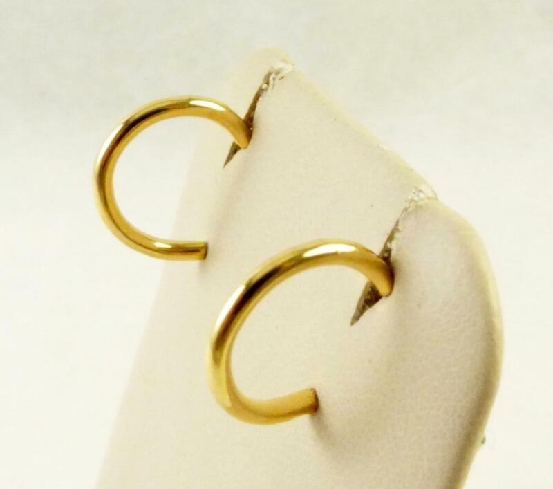 """Lot of 100 Pair Goldtone 1/2"""" Hoop Post Earrings"""
