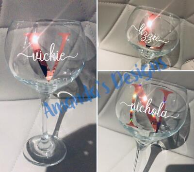Initial & Name Vinyl Decal Sticker DIY Cup, Mug, Glass