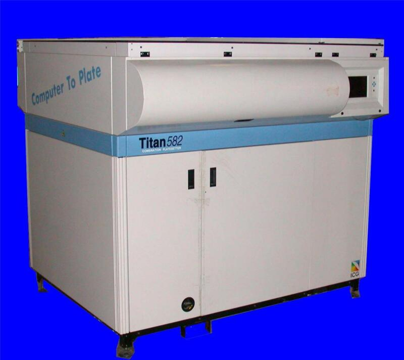 VERY NICE ICG COMPUTER TO PLATE COMBINATION PLATESETTER MODEL TITAN 582