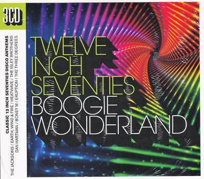 TWELVE INCH SEVENTIES - BOOGIE WONDERLAND - VARIOUS ARTISTS (NEW 3CD Digipak) - Disco Seventies