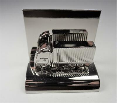 Aircraft Metal Cargo Shipping Container Truck Desktop Business Card Holder