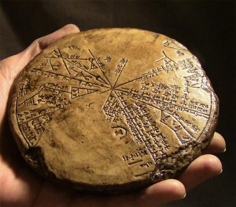 "SUMERIAN CUNEIFORM STAR CHART ""Sodom & Gomorrah Tablet"" ancient replica"