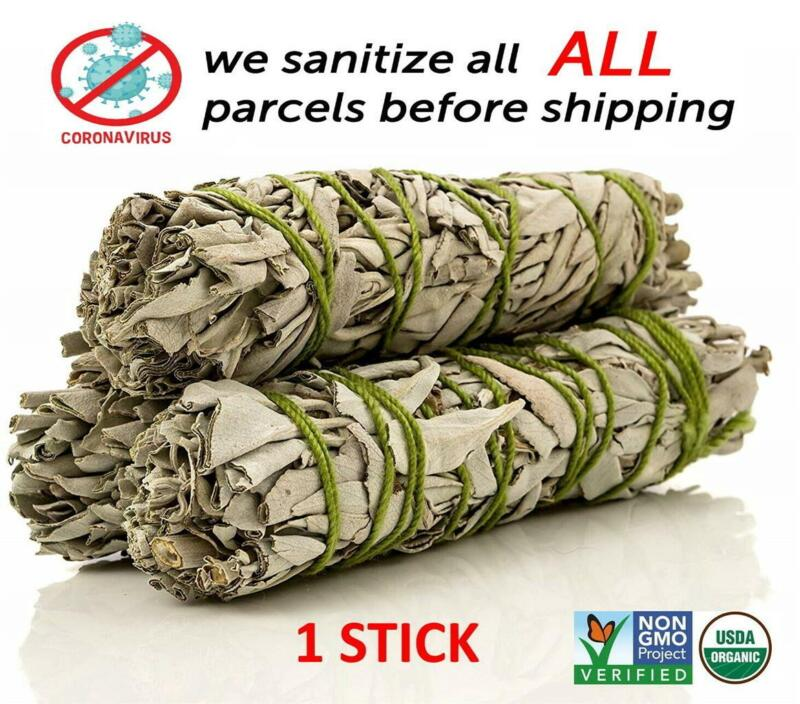 White Sage Cali Smudge Stick ( 1 Sage Bundle,House Cleansing) Made in USA