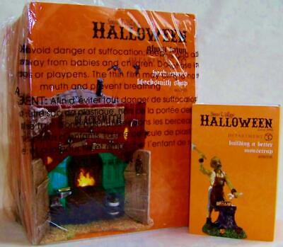 Dept 56 Halloween HACKMANNS BLACKSMITH SHOP + BUILDING A BETTER MOUSETRAP NRFB *