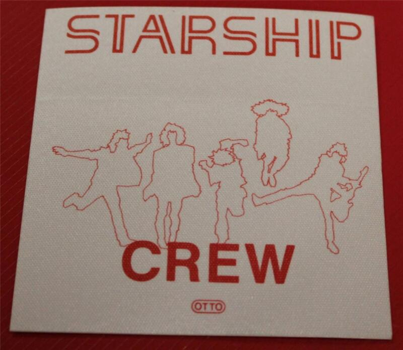Vintage & Genuine OTTO Jefferson Starship Satin Cloth Backstage Pass CREW Red