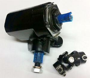 BLACK Ford T-Bucket Style Reversed Corvair Steering Box 20:1 Ratio w/ U Joint