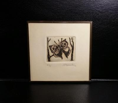 Mini Butterfly Painting / Wood Block Print? Zapata, Artist Proof, Signed -