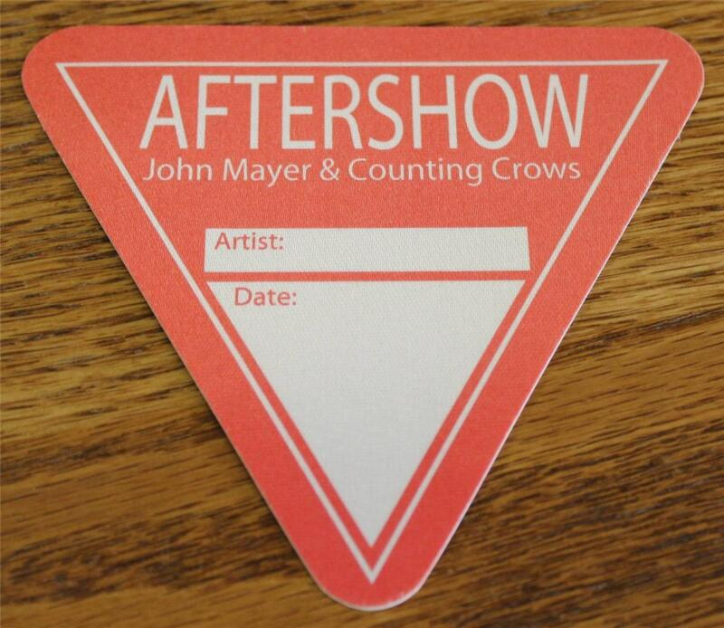 Vintage & Genuine John Mayer & Counting Crows Red Triangular OTTO Backstage Pass