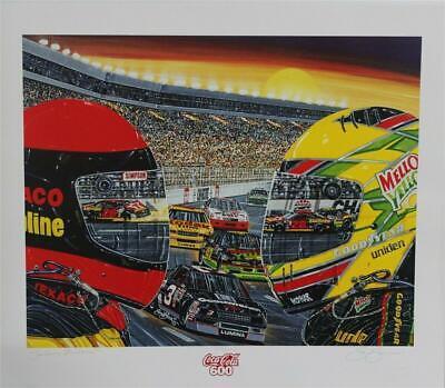 "Charlotte Motor Speedway Coca-Cola 600 "" Sundown Showdown "" #'d Sam Bass Print"