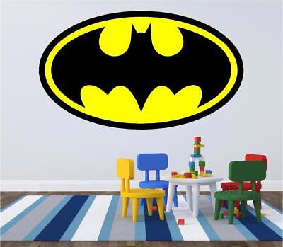 Batman Logo Kids Wall Art, laptop Sticker Full Colour Print Decal Transfer HUGE