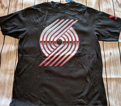 LZ Adidas Men's Large Portland Trail Blazers Go-To Tee T-Shirt T Shirt NEW Q83 for sale  Hubertus