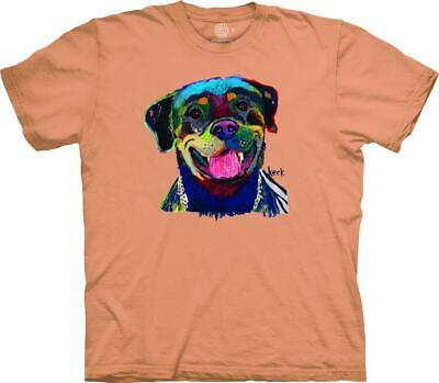 HAPPY ROTTWEILER ADULT T-SHIRT THE MOUNTAIN MICHEL KECK Happiness Adult T-shirt