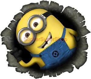 DESPICABLE ME  MINION IN MY WALL Movie Decal Removable WALL - Minion wall decals