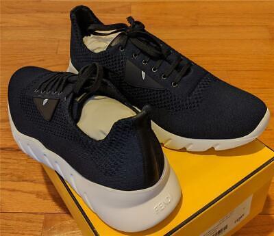 $650 Mens Authentic Fendi Knit Bug Sneakers Navy/White UK 13 US 14