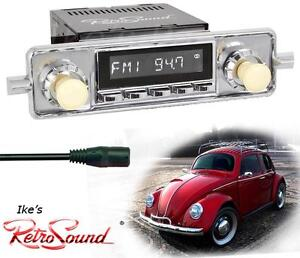 RetroSound-58-67-VW-Bug-Beetle-LAGUNA-C-Radio-3-5mm-AUX-In-for-ipod-Push-Button