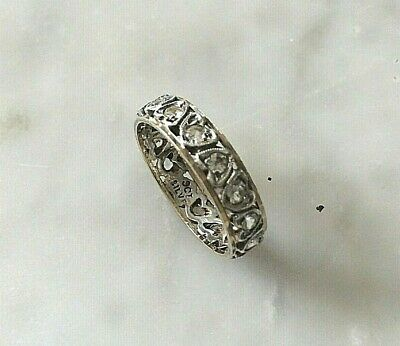 1940s Jewelry Styles and History Ring  Sterling Silver 925 & 9CT Gold 1940s Original Ring Size N   (2312J ) $67.67 AT vintagedancer.com
