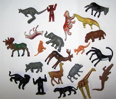 1 BAG OF ASSORTED WILD ANIMALS play toy replica models 20 PIECES ASST ANIMAL