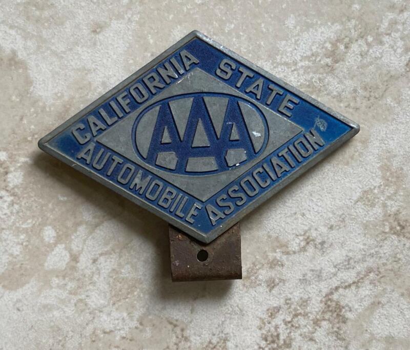 California State Automobile Association AAA License Plate Badge Original