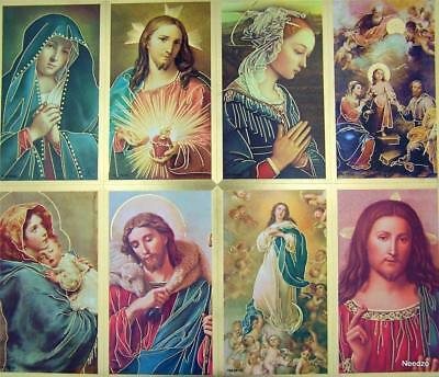 Saints Jesus Christ with Marian Icon Holy Cards,​ 125 Sheet,Pack 1000, 4 1/4 In (Holy Card Sheet)
