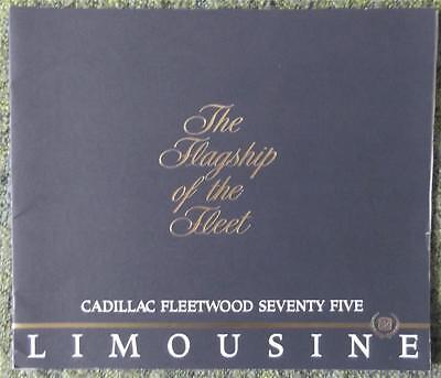 CADILLAC FLEETWOOD LIMOUSINE 75 SALES BROCHURE 1986 (USA PRINT) REF- 12/85