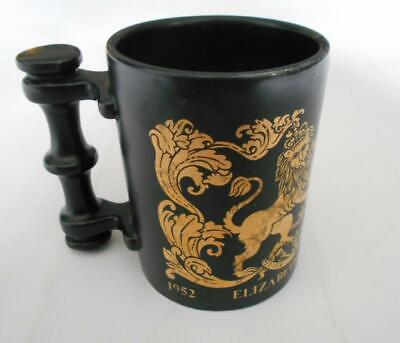 Portmeirion Pottery Queen Elizabeth II Silver Jubilee 1977 Coffee Mug Black