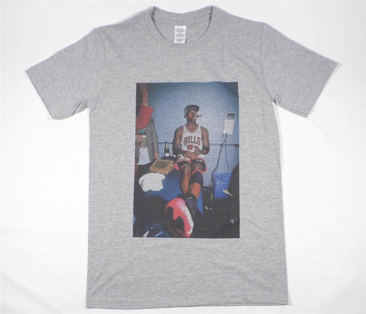 Michael jordan gris t-shirt taille xxxl supreme basketball bred championnat