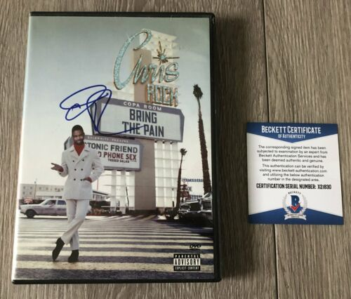 COMEDIAN CHRIS ROCK SIGNED AUTOGRAPH BRING THE PAIN DVD w/PROOF BECKETT BAS COA