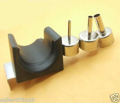 Hot Air Gun Handle Bracket 3pcs Nozzle For Quick Atten 858d 858 868d 878d 898d