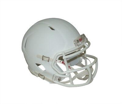 Blank Football Helmet (Matte White with White Mask Blank Riddell Revolution SPEED Mini Football)