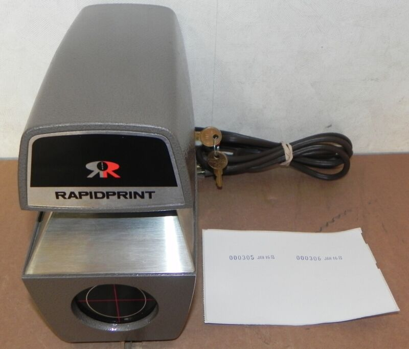 RAPIDPRINT ADN-E AUTOMATIC NUMBERING & DATE STAMP SERIAL NUMBER MACHINE
