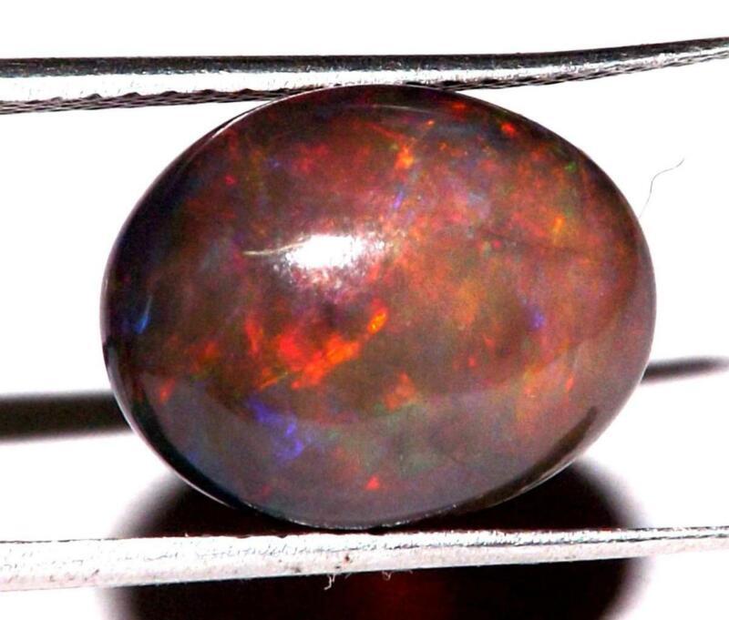 4.15 cts Ethiopian Fire Opal 13 x 10 mm Earth Mined Gemstone #obo1650