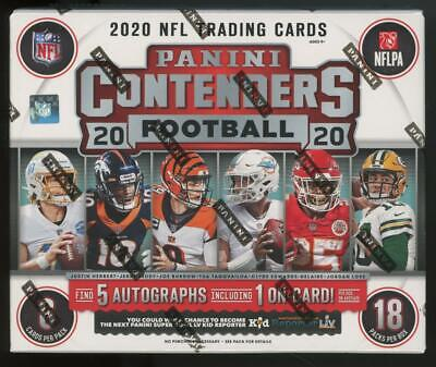 2020 Panini Contenders Football Factory Sealed Hobby Box