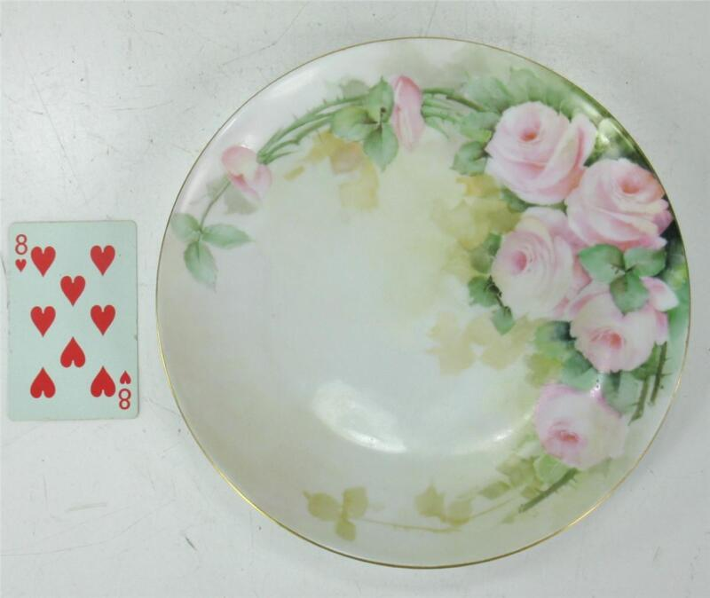 Thomas Bavaria Hand Painted Roses Plate, Hutschenreuther / Tirschenreuth