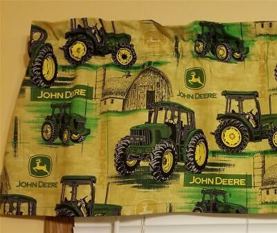 NEW CUSTOM CRAFTED JOHN DEERE TRACTOR BARN FARM COUNTRY CURTAIN VALANCE John Deere Curtain