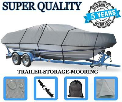 GREY BOAT COVER FITS BOSTON WHALER DAUNTLESS 200 W/BOW RAILS covid 19 (Boston Whaler Bow Rails coronavirus)