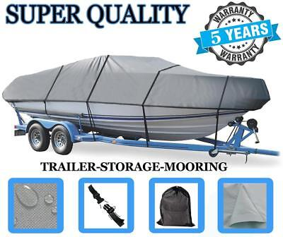 GREY BOAT COVER FOR HEWESCRAFT-WEST COAST 16 SPORTSMAN O/B 2007-2009