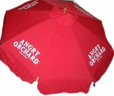 ANGRY ORCHARD CIDER  9 foot BEER UMBRELLA MARKET PATIO STYLE NEW HUGE SAM ADAMS  ()