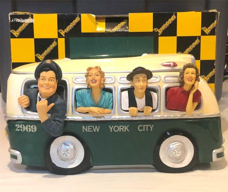 1998 HONEYMOONERS NYC BUS CERAMIC COOKIE JAR PREMIER EDITION MINTY ~ #