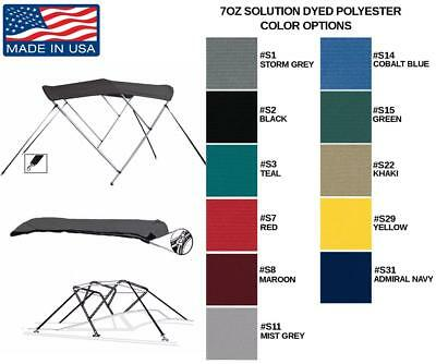 7oz BOAT BIMINI TOP 3 BOW TRACKER PRO GUIDE V-16 WT 2005-2010