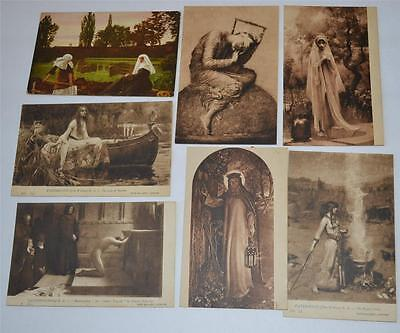 Lot  of 7 Vintage Old Postcard Tate Gallery London Early Century 1900's
